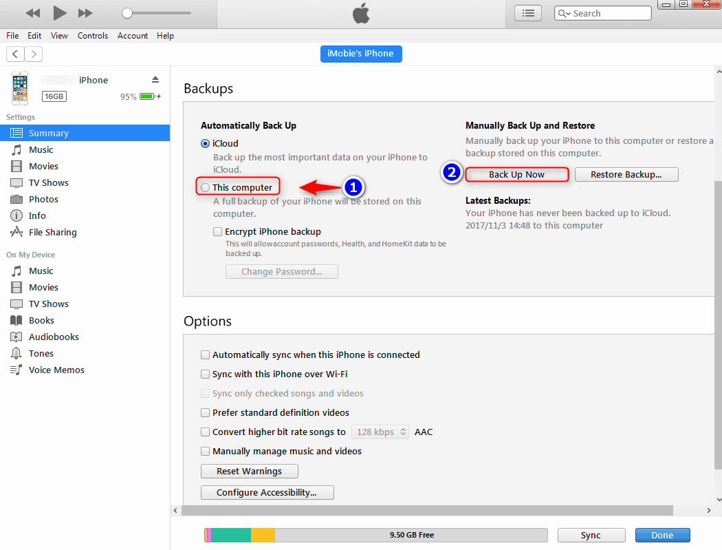 Backup and restore iphone or ipad with iTunes
