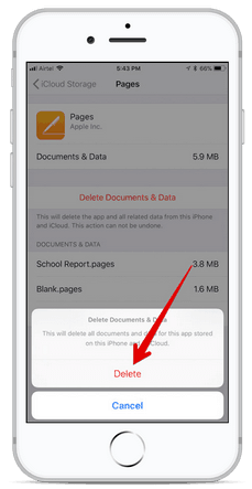 Delete Documents and Data on iPhone in iOS 11