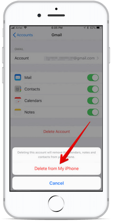 Delete Gmail Account From my iPhone