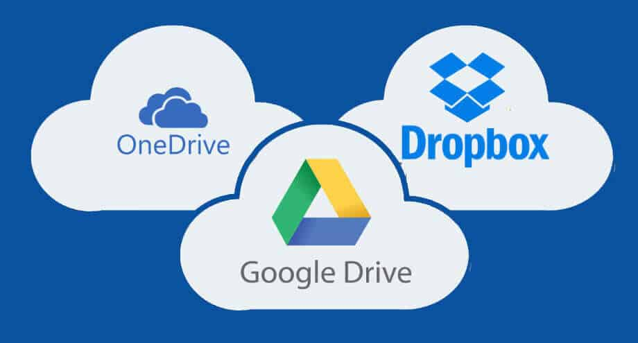 Dropbox vs Google Drive vs Onedrive For iPhone or iPad Backup