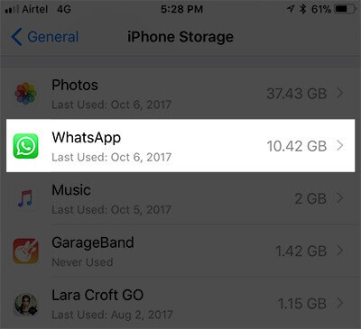 Identify App Storage on iPhone