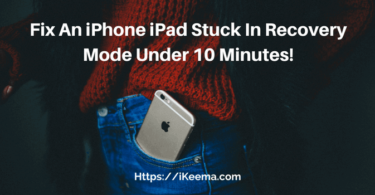 Fix An iPhone iPad Stuck In Recovery Mode Under 10 Minutes!