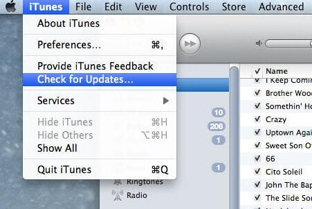 check For iTunes Software Update