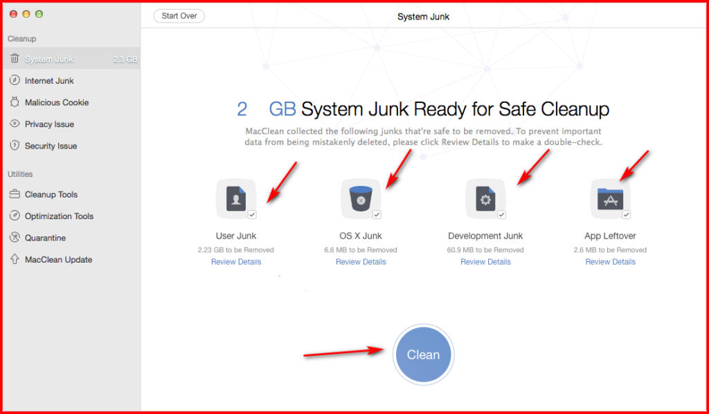 how to clean system junk in mac