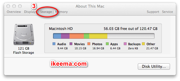 storage in mac