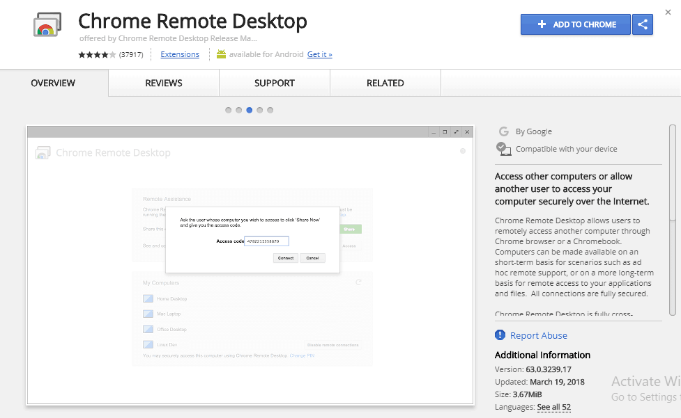 passcode for remote access to run imessage on PC