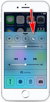 disable do not disturb mode from control center