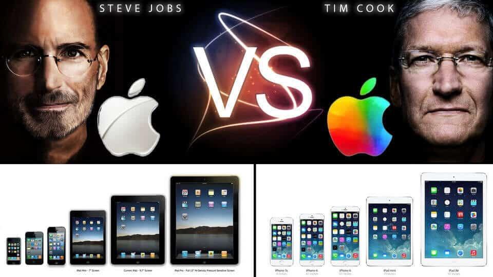 Steve Jobs vs Tim cook