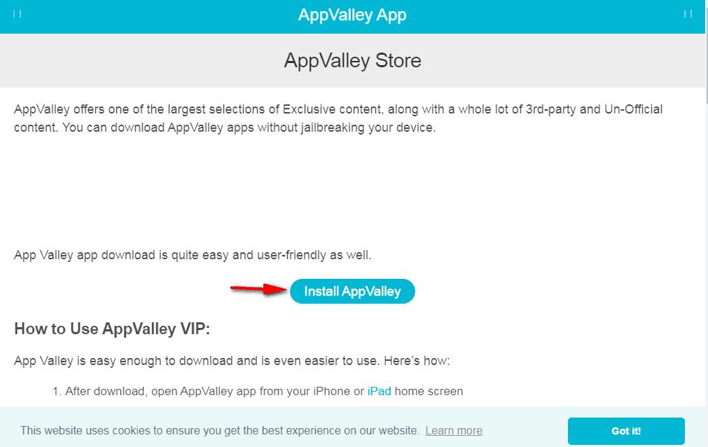 Appvalley installer GBA4iOS downoad