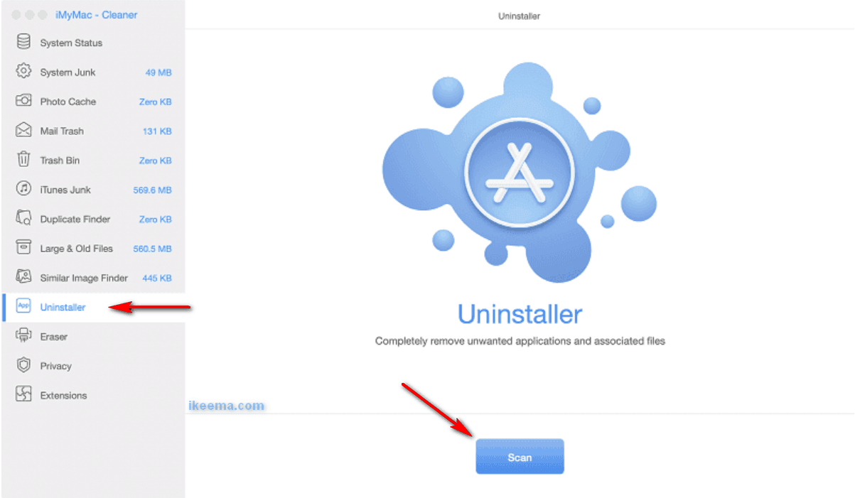 Uninstall Avast with the help of iMyMac Cleaner