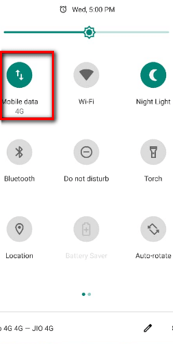 Turn off mobile data and turn on WiFi android